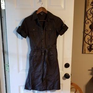 Banana Republic brown button down dress